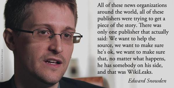 Snowden on Wikileaks
